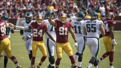 Redskins Lose Both Quarterback And The Game In Philadelphia Against The Eagles 28-15